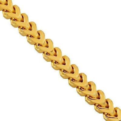 9ct 4mm Italian Franco Chain / Bracelet (Semi-Hollow)