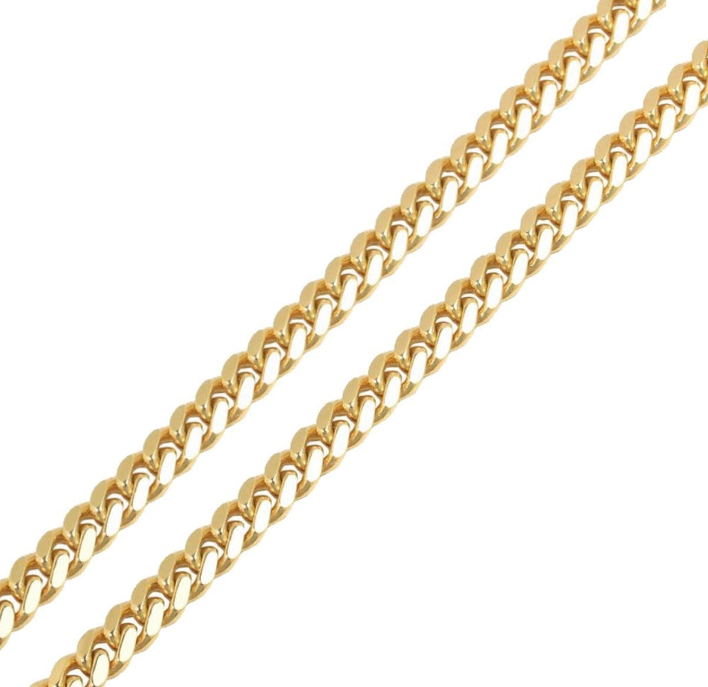 9ct 9mm Cuban Chain / Bracelet (Solid)