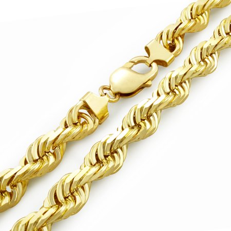 9ct Solid Diamond Cut Rope Chain (8mm)