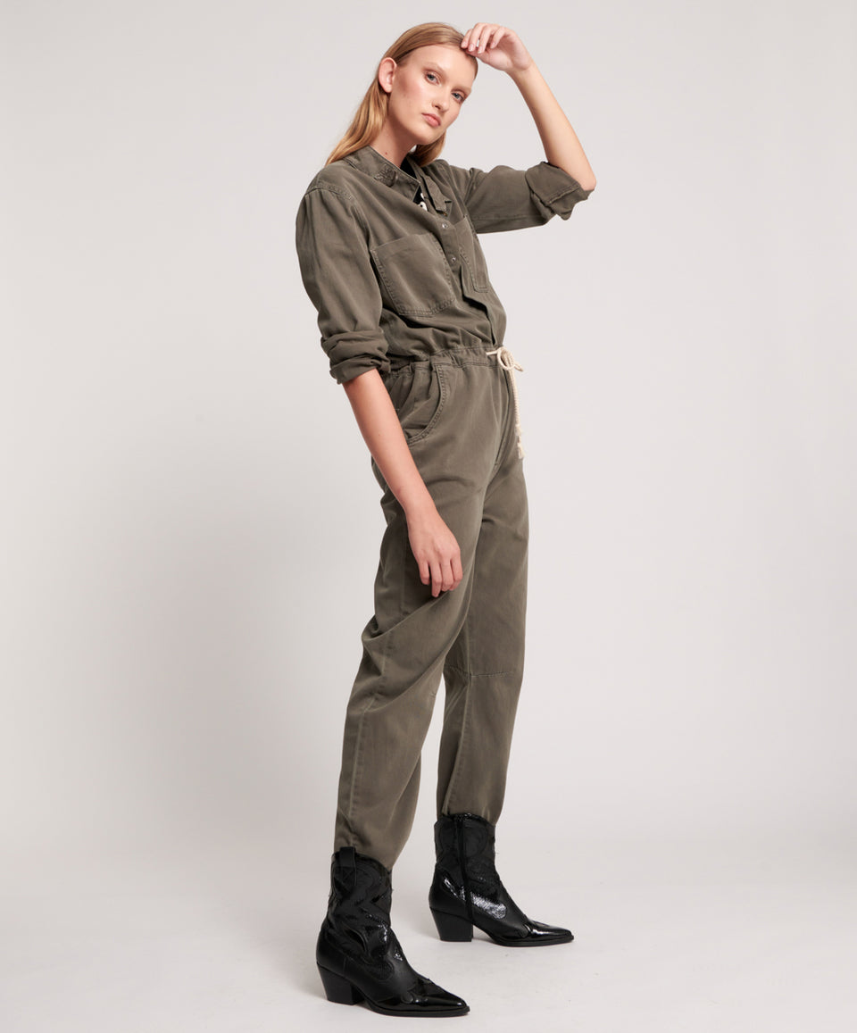 One Teaspoon Dark Khaki Starship Jumpsuit