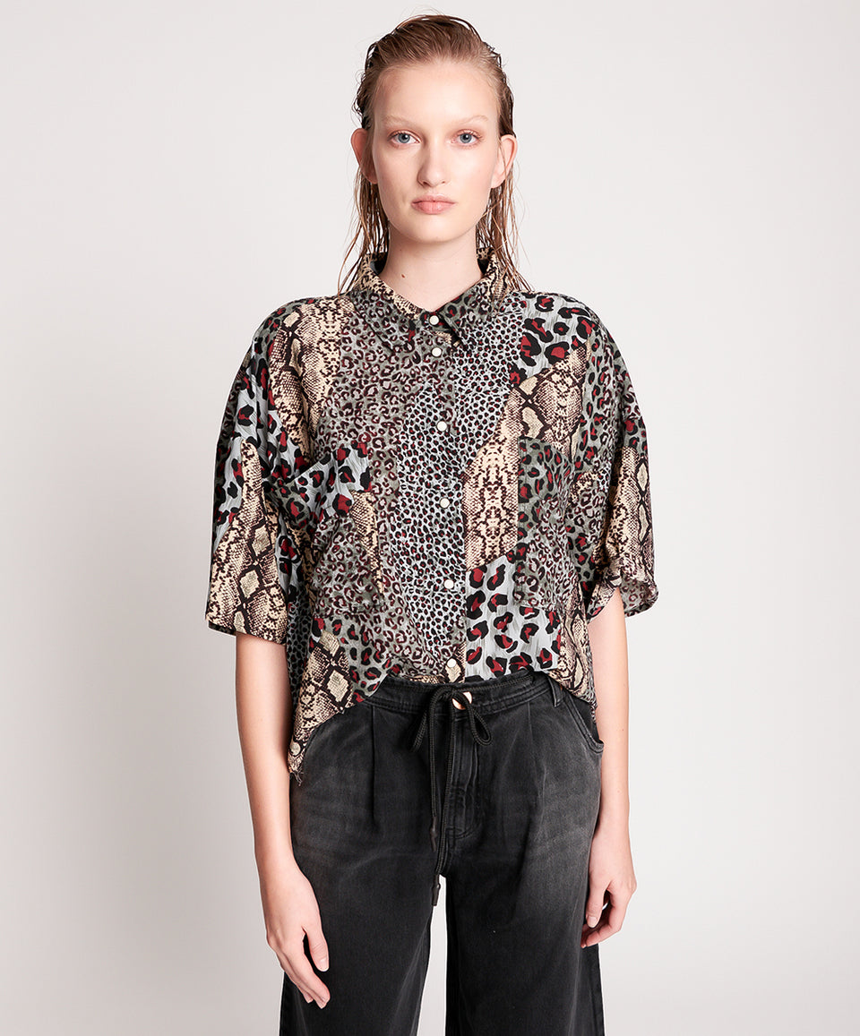 One Teaspoon Punk Python Fringed Savanna Shirt