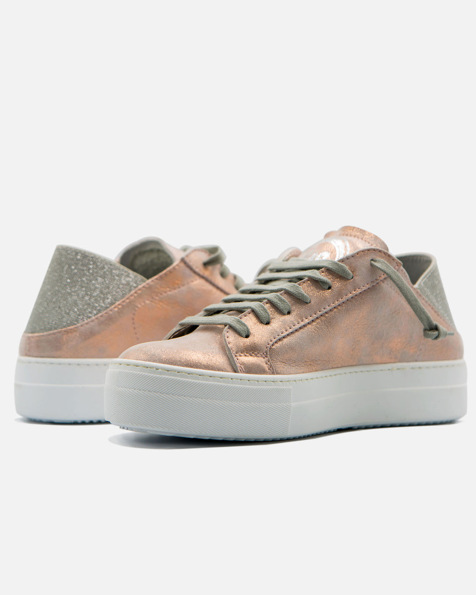 Low Top Platform Rose Gold Mule
