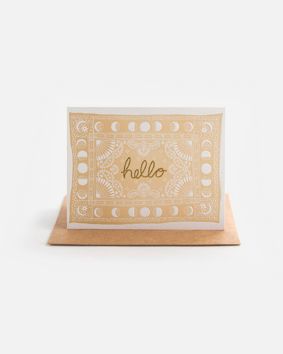 Hello Bandana Letterpress Card