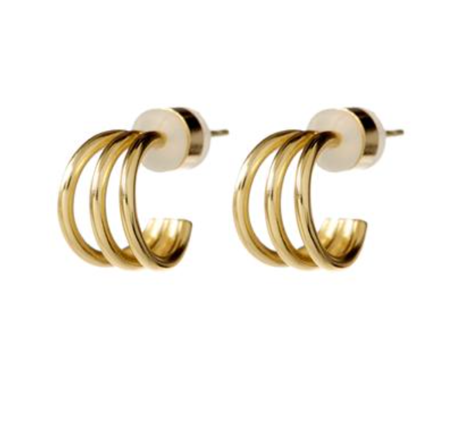 Luv AJ Mini The Baby Bastille Hoops Gold