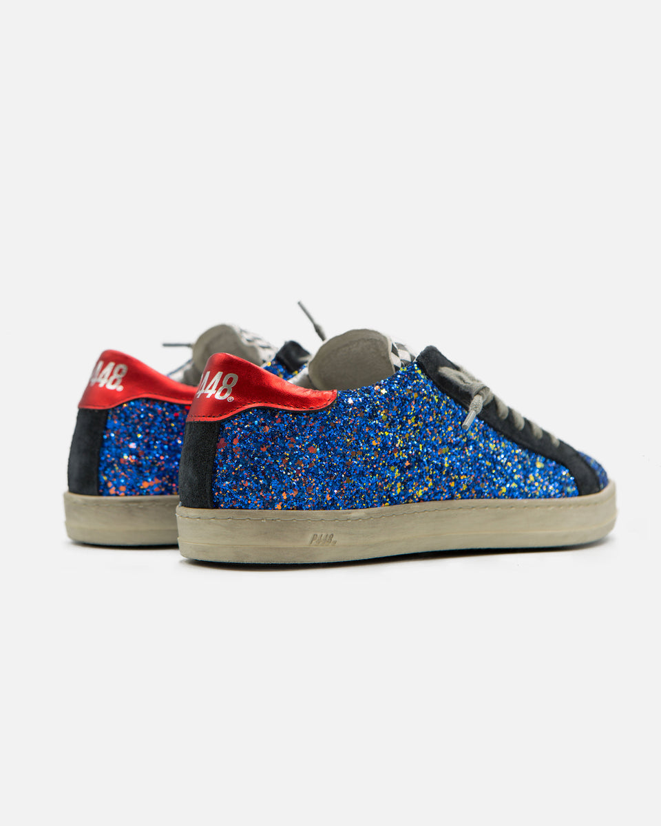 Low Top Blue Glitter