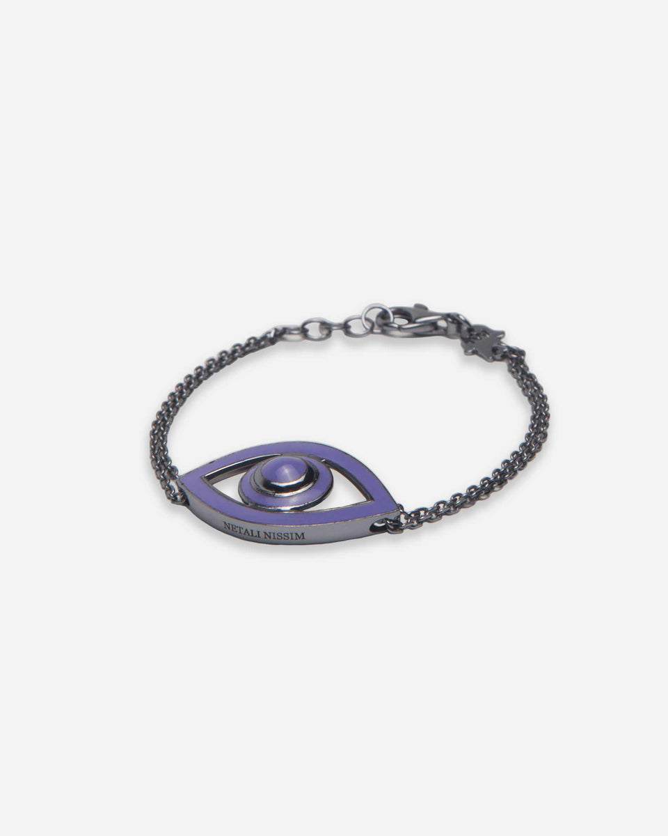 Eye Bracelet Oxidized Lavender