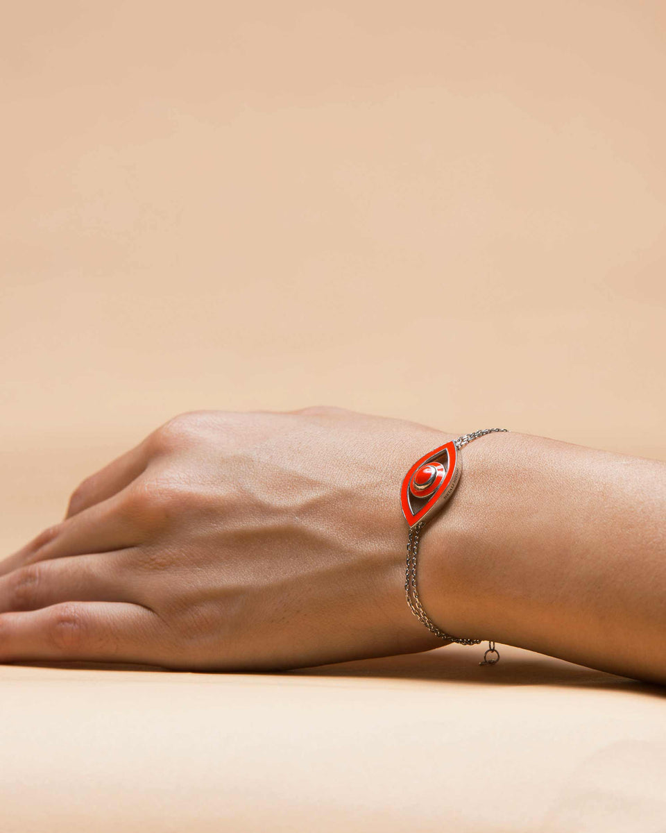 Eye Bracelet Red Enamel
