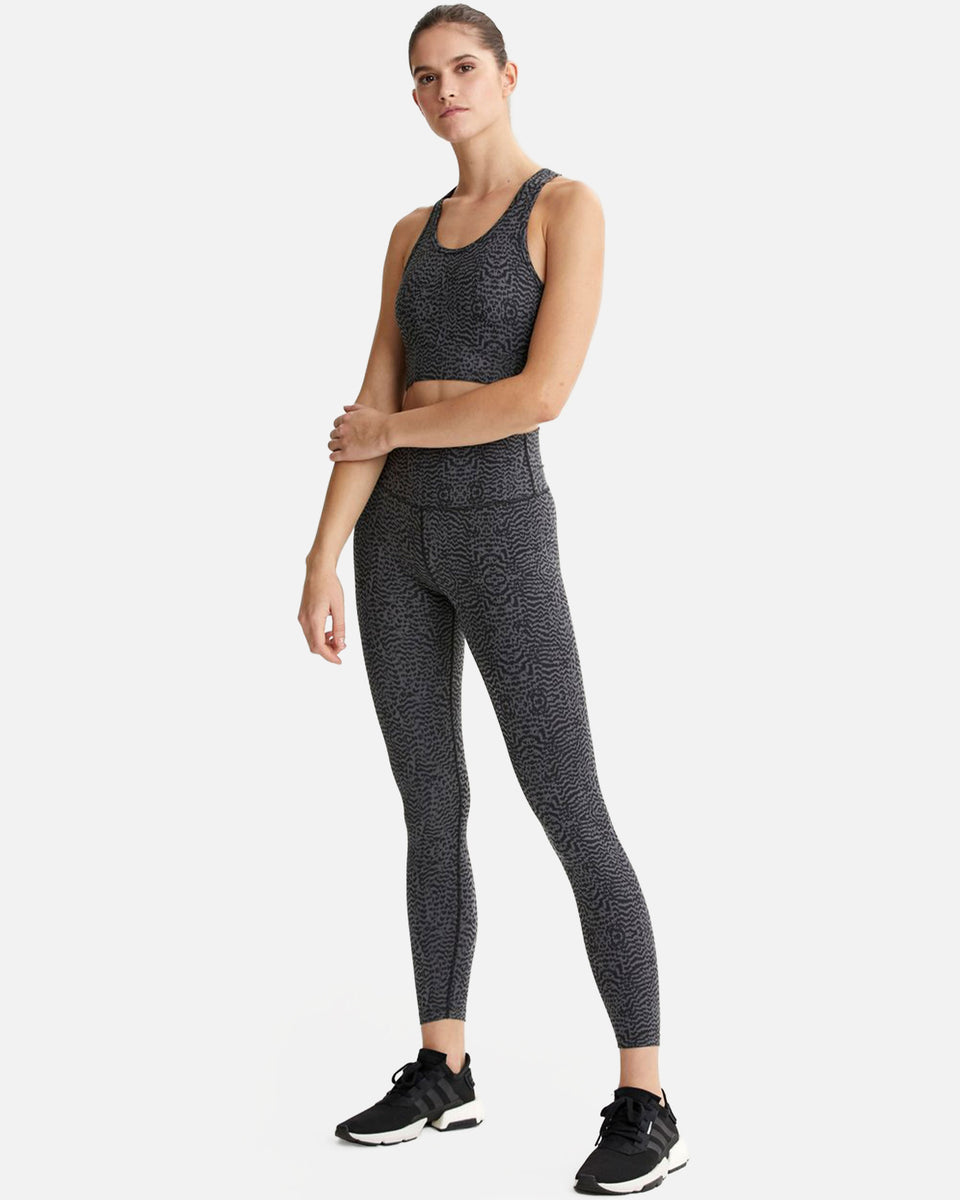 Varley Luna Legging Nocturnal Feathers High Rise 7/8