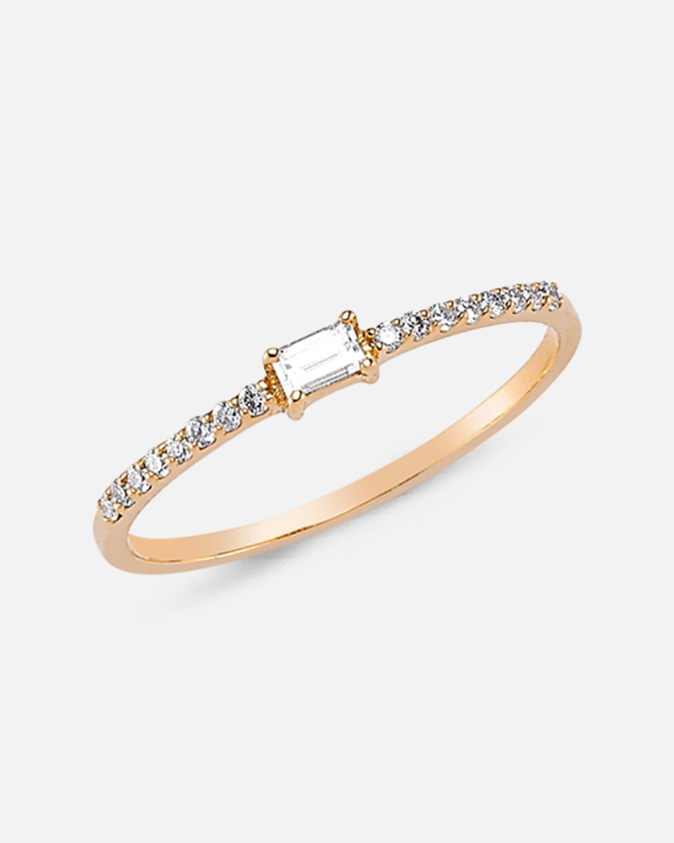 OWN Your Story Baguette And White Diamond Ring