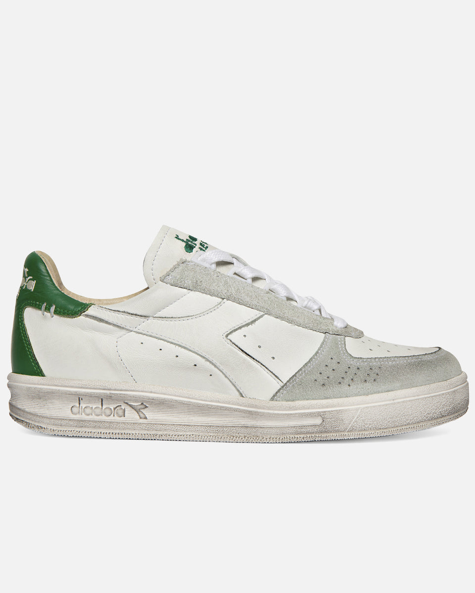 B Elite Leather Dirty- White and Green