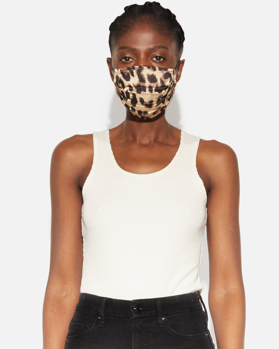 Winnie- Neutral Leopard Face Mask