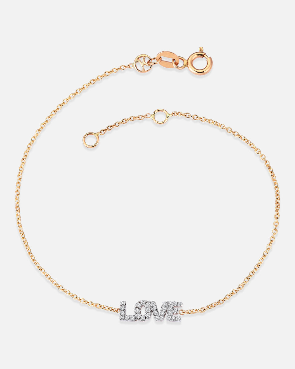 Love Bracelet in White Diamonds