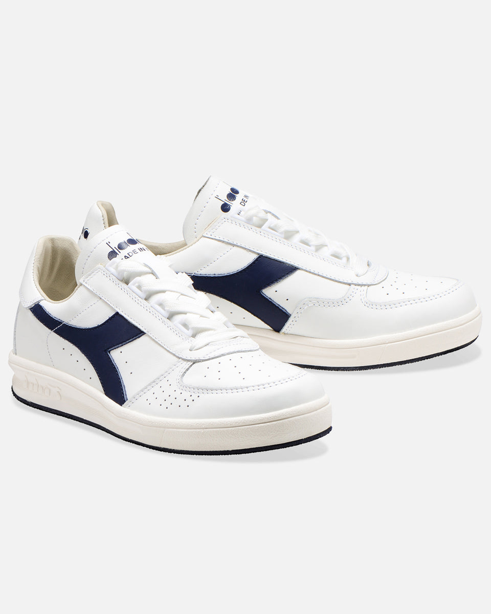 B.Elite H Italia Sport- White And Navy Low Top Sneaker