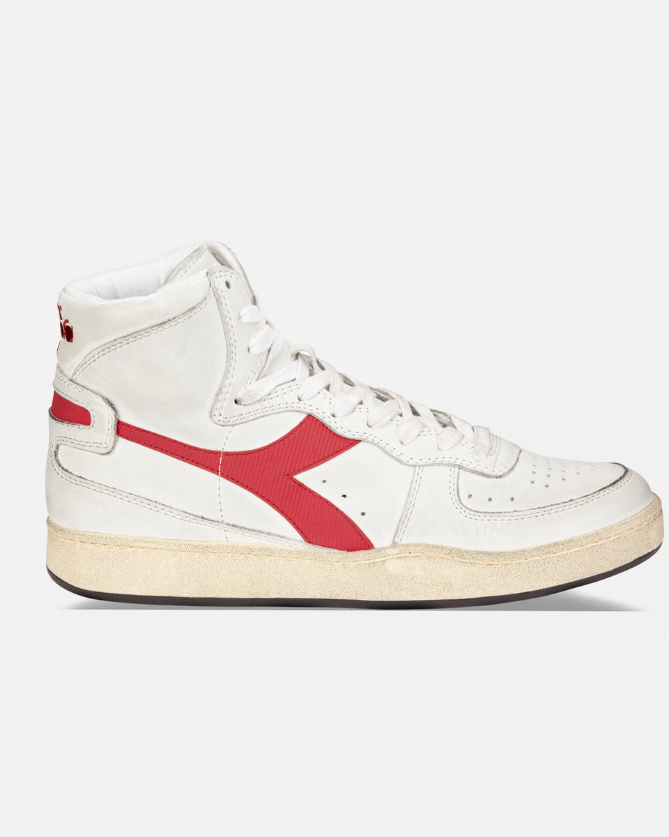 Mi Basket- White And Red Hi-Top