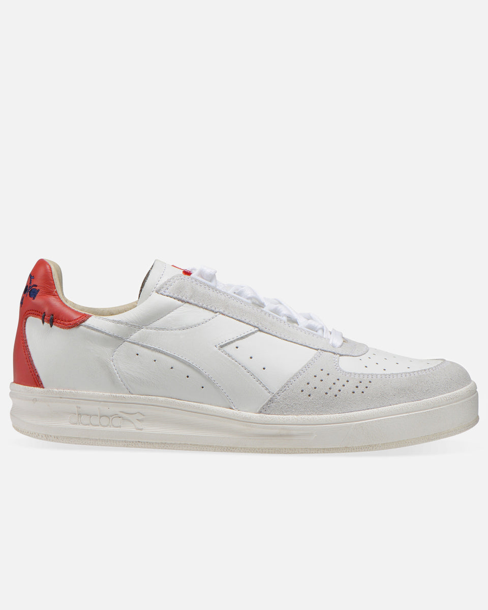 B.Elite H Leather Dirty- White and Ferrari Red