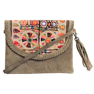 577 ELLA - GREY CROSS-BODY BAG