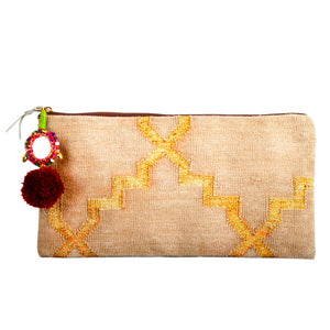 "586 ""GOLD"" HANDWOVEN CLUTCH"