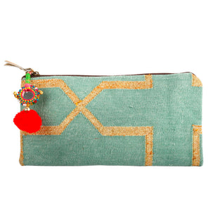 "588 ""MINT"" HANDWOVEN CLUTCH"