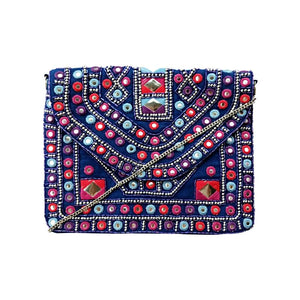 "572 ""ANNA"" - BLUE CROSS-BODY CLUTCH"