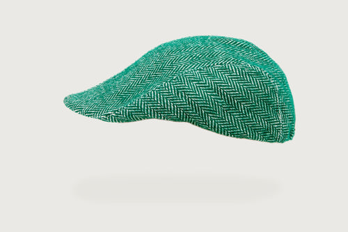 Herringbone Flat Cap — Pure Cotton — Kids