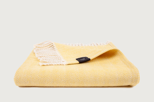 Herringbone Throw & Blanket — Pure Cotton