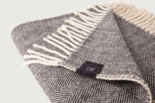 Load image into Gallery viewer, Herringbone Throw & Blanket — Lambswool