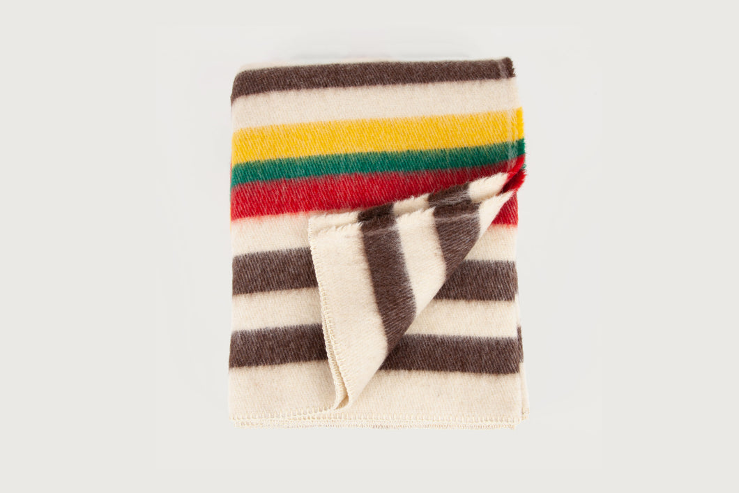 Shepherd Throw — Lobeira Stripes - Pure New Wool
