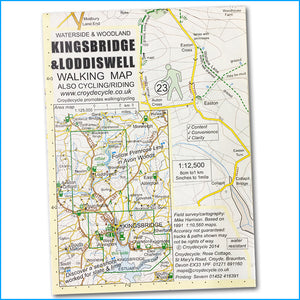 Kingsbridge and Loddiswell walking and cycling map - Croyde Maps