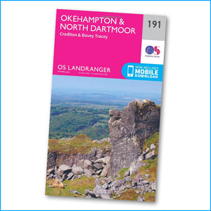 OS Landranger Map 191 - Okehampton & North Dartmoor