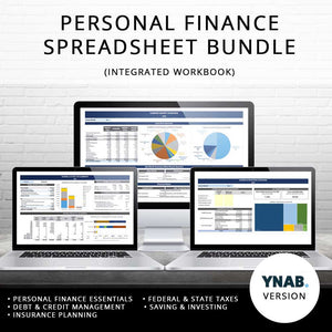 2019 Personal Finance Spreadsheet Bundle (YNAB-Based)