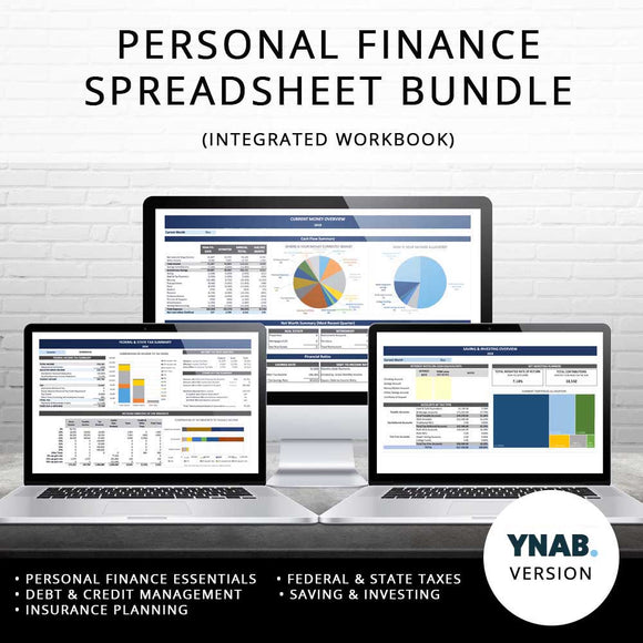 Personal Finance Spreadsheet Bundle (YNAB-Based)