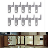 10Pcs LED Smart Touch Induction Cabinet Light Cupboard Inner Hinge Lamp Sensor Light Night Light for Closet Wardrobe - 24SevenDeals