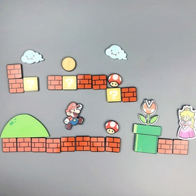 17/22/28/29 Pcs Super Mario Fridge  Magnets Refrigerator  Japan Cartoon Gaming Cartoon Ice Box Paster Icebox Sticker - 24SevenDeals