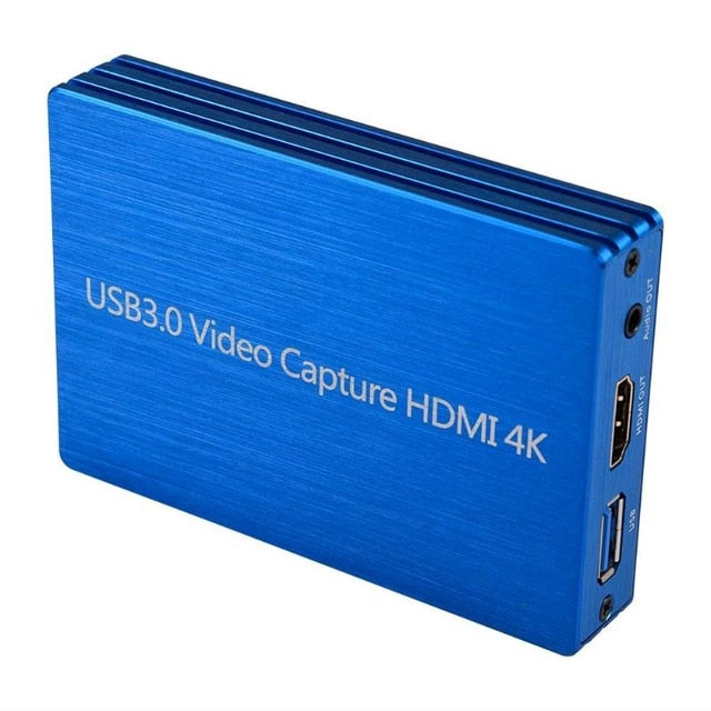 60fps 4K HDMI to USB 3.0 Video Capture Card Dongle 1080P HD Video Recorder Grabber for OBS Capturing Gaming Live Streaming - 24SevenDeals