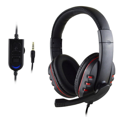 Stereo Gaming Headset For Xbox one PS4 PC 3.5mm Wired Over-Head Gamer Headphone With Microphone Volume Control Game Earphone - 24SevenDeals