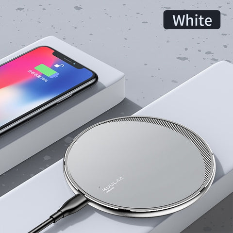 KUULAA Qi Wireless Charger For iPhone 11 Pro 8 X XR XS Max 10W Fast Wireless Charging for Samsung S10 S9 S8 USB Charger Pad - 24SevenDeals