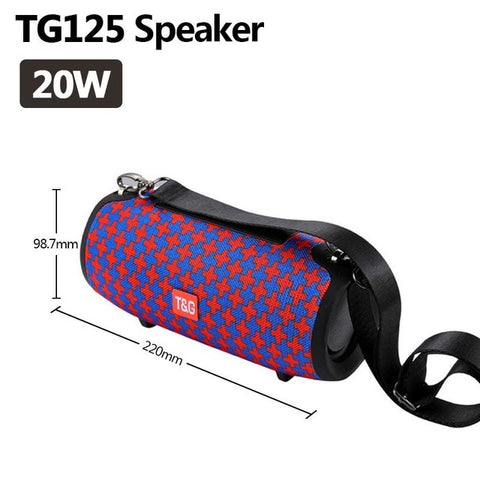 TG118 High Power 40W Bluetooth Speaker Waterproof Portable Column For PC Computer Speakers Subwoofer Boom box Music Center Radio - 24SevenDeals