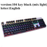 Metoo  Edition Mechanical Keyboard 87 keys Blue Switch Gaming Keyboards for Tablet Desktop  Russian sticker - 24SevenDeals