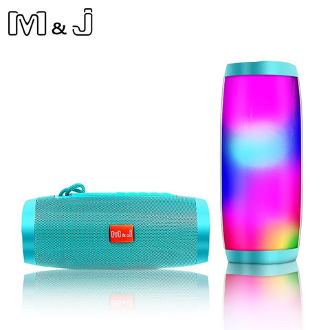 Wireless Bluetooth Speaker LED Portable Boom Box Outdoor Bass Column Subwoofer Sound Box  with Mic Support TF FM USB Subwoffer - 24SevenDeals