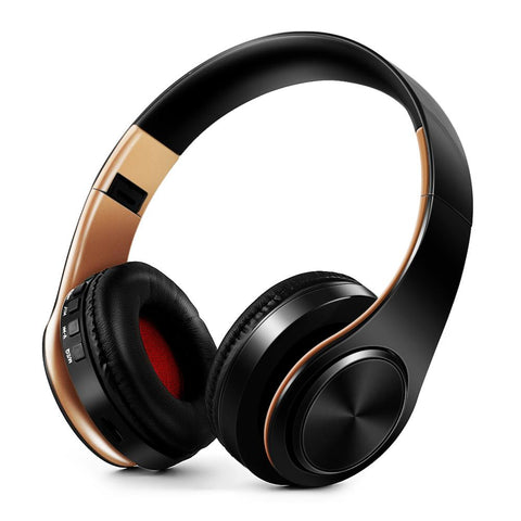 HIFI stereo earphones bluetooth headphone music headset FM and support SD card with mic for mobile xiaomi iphone sumsamg tablet - 24SevenDeals