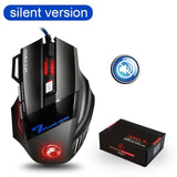 Ergonomic Wired Gaming Mouse 7 Button LED 5500 DPI USB Computer Mouse Gamer Mice X7 Silent Mause With Backlight For PC Laptop - 24SevenDeals