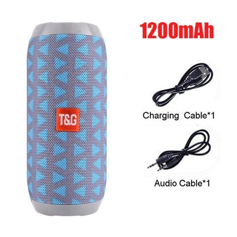 YABA Waterproof Bluetooth Speaker outdoor Rechargeable Wireless Speakers Portable Soundbar Subwoofer Loudspeaker TF MP3 Built-in - 24SevenDeals