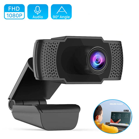 Webcam HD 1080P USB Camera Plug&Play Web Cam Autofocus 2MP 30fps 1920x1080P Web Camera with Microphone for PC Laptop Livestream - 24SevenDeals