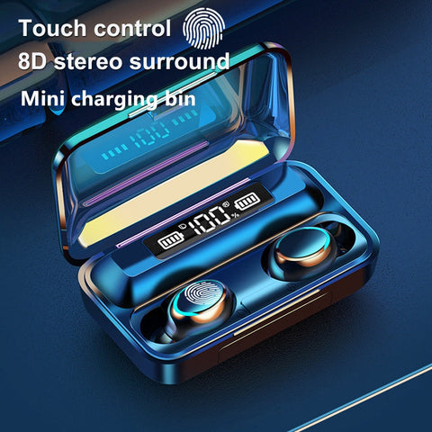 TWS Wireless Earphones Bluetooth Earphones 5.0 8D Bass Stereo waterproof Earbuds Handsfree Headset With Microphone Charging Case - 24SevenDeals