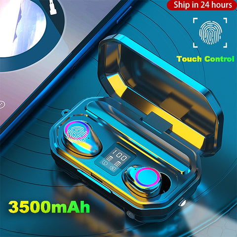 3500mAh Wireless Headphones Touch Control Bluetooth 5.0 Earphones Earbuds TWS Sport Headset Noise Cancel LED Display Waterproof - 24SevenDeals