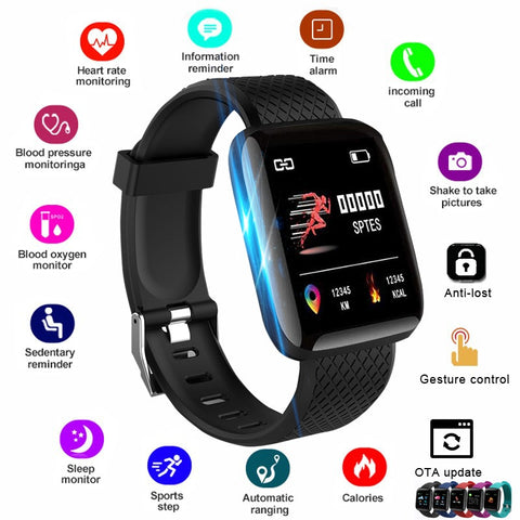 2020 Smart Watch Women Men Smartwatch For Apple IOS Android Electronics Smart Fitness Tracker With Silicone Strap Sport Watches - 24SevenDeals
