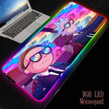XGZ Anime Morty Gaming RGB MousePad Large Locking Edge Speed Game Gamer LED Mouse Pad Soft Laptop Notebook Mat for CSGO - 24SevenDeals
