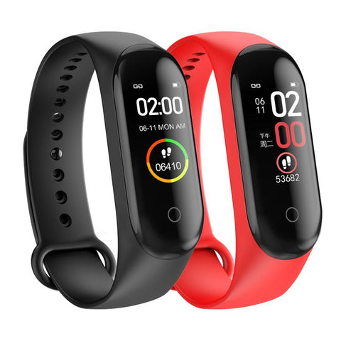 M4 Sport Smart Band Fitness Silicone Smart Watch Smart Bracelet Heart Rate Blood Pressure Watch Tracker Monitor Health Wristband - 24SevenDeals