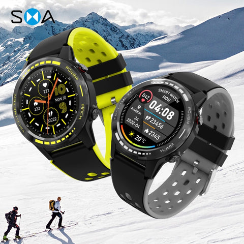 SMAWATCH M7C Smart Watch Smartwatch GPS Men Women 2020 Compass Barometer Altitude Full Touch Fitness Outdoor Watch Smart Watches - 24SevenDeals