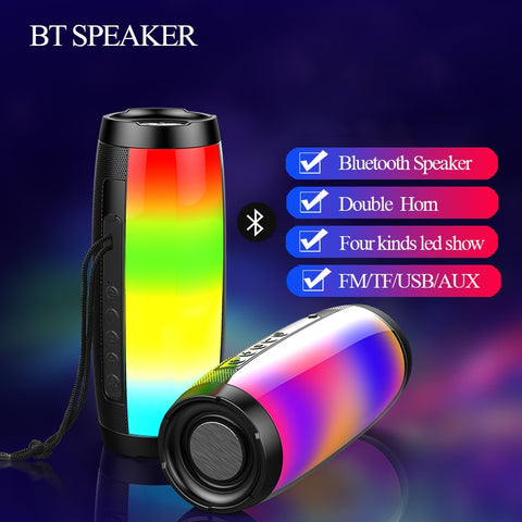 Wireless Bluetooth Speaker Portable Column 10W Subwoofer Sound Bar Support FM Radio AUX TF USB Music Center for Computer 2.1 LED - 24SevenDeals